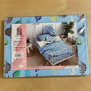 Baby Sheet Set 100% Cotton Blue/Dinosaurs